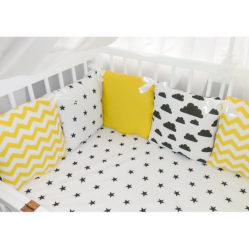 Захисні бортики для ліжечка новонародженого Сонячне Небо