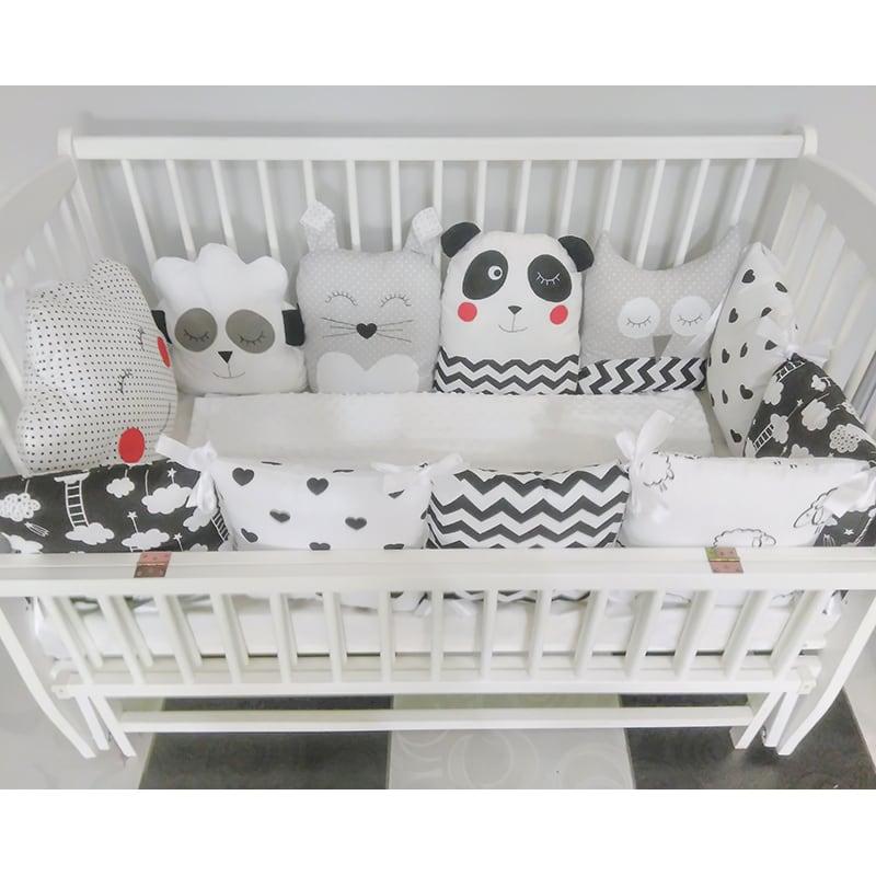 Защитные бамперы в кроватку новорожденному Сказка от Панды