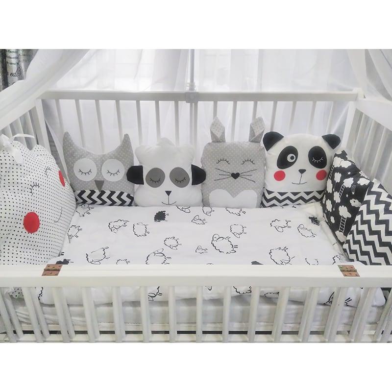 Захисні бортики в ліжечко новонародженого Колискова від Панди