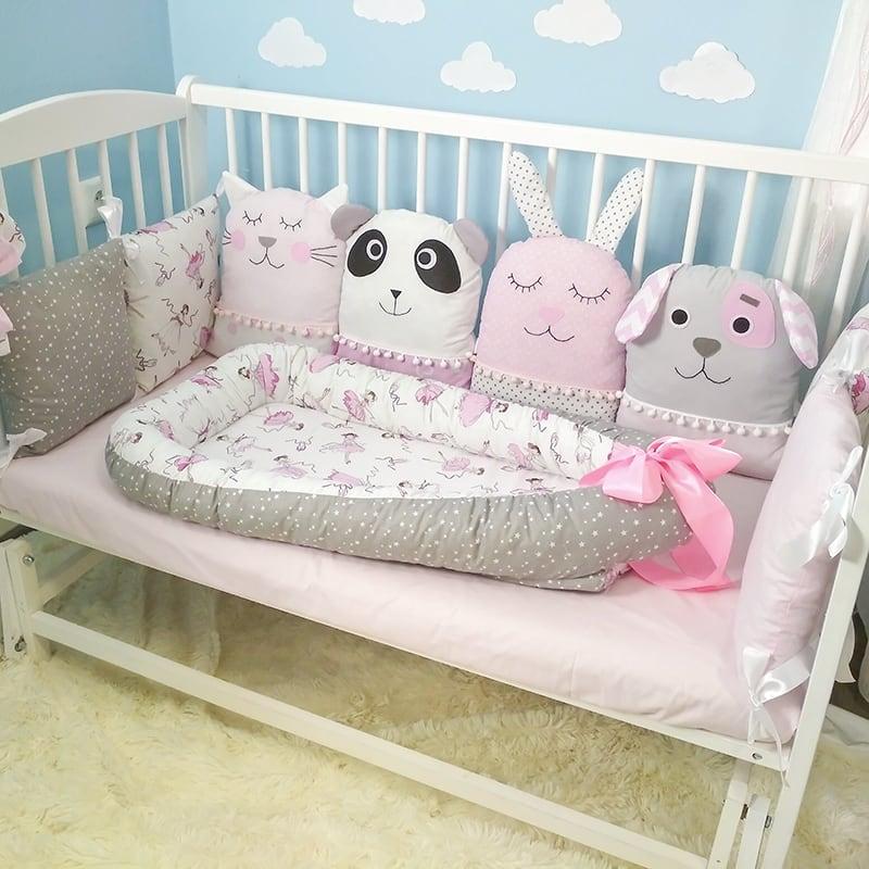 Защитные бамперы в кроватку девочке Маленькая Фея и ее Друзья