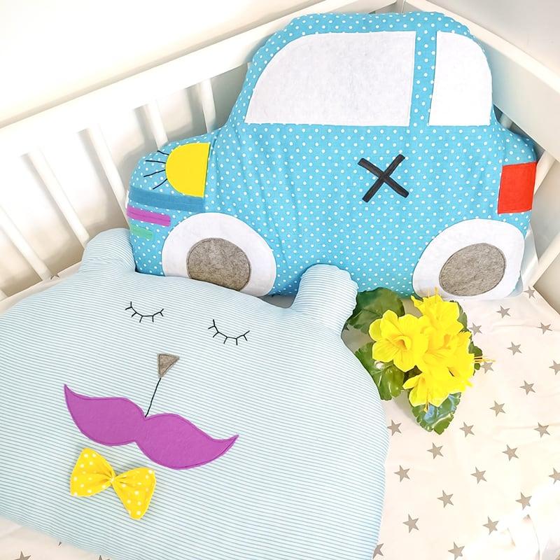 Бамперы защитные в кроватку мальчику Облачный Принц