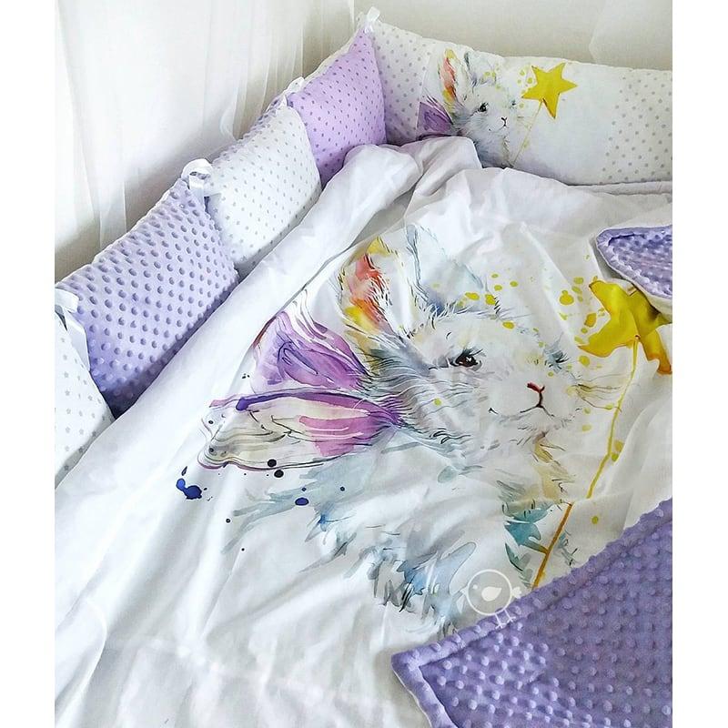 Бортики в кроватку Белый Кролик