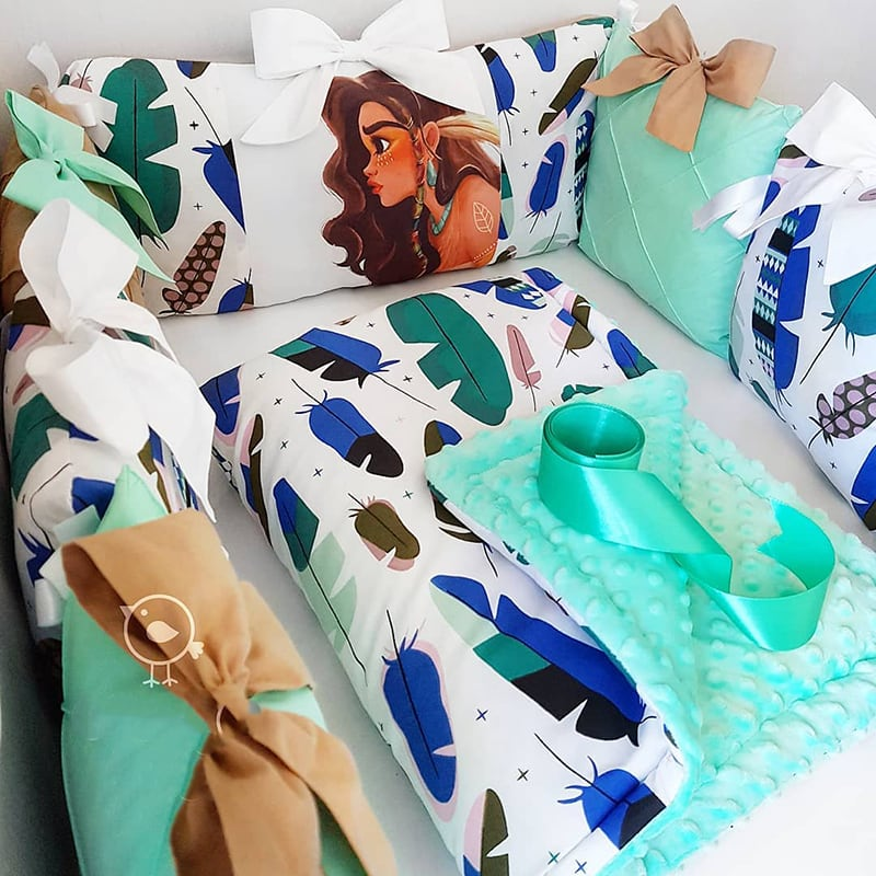 Бортики в кроватку Вождь Синее Перо