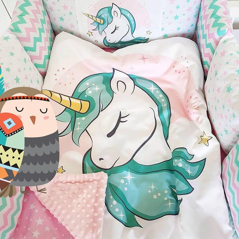 Бортики для кроватки Волшебный Единорог