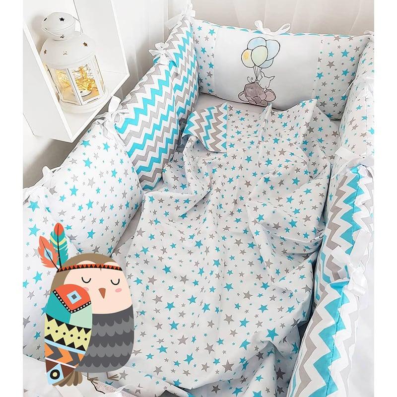 Бампери-подушки в ліжечко Слоник на Повітряній Кульці