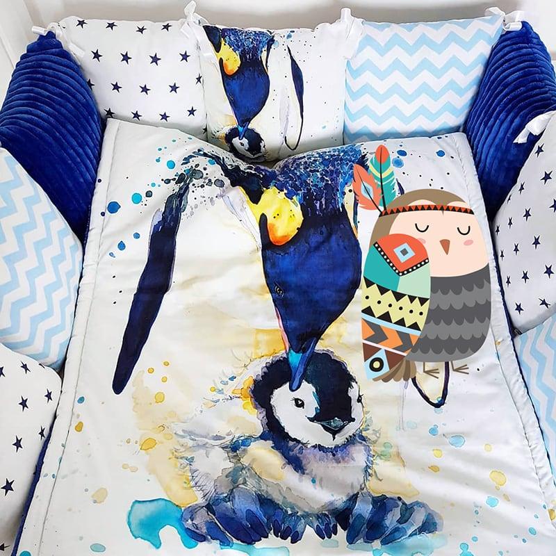 Защитные бортики для кроватки Мой Птенчик