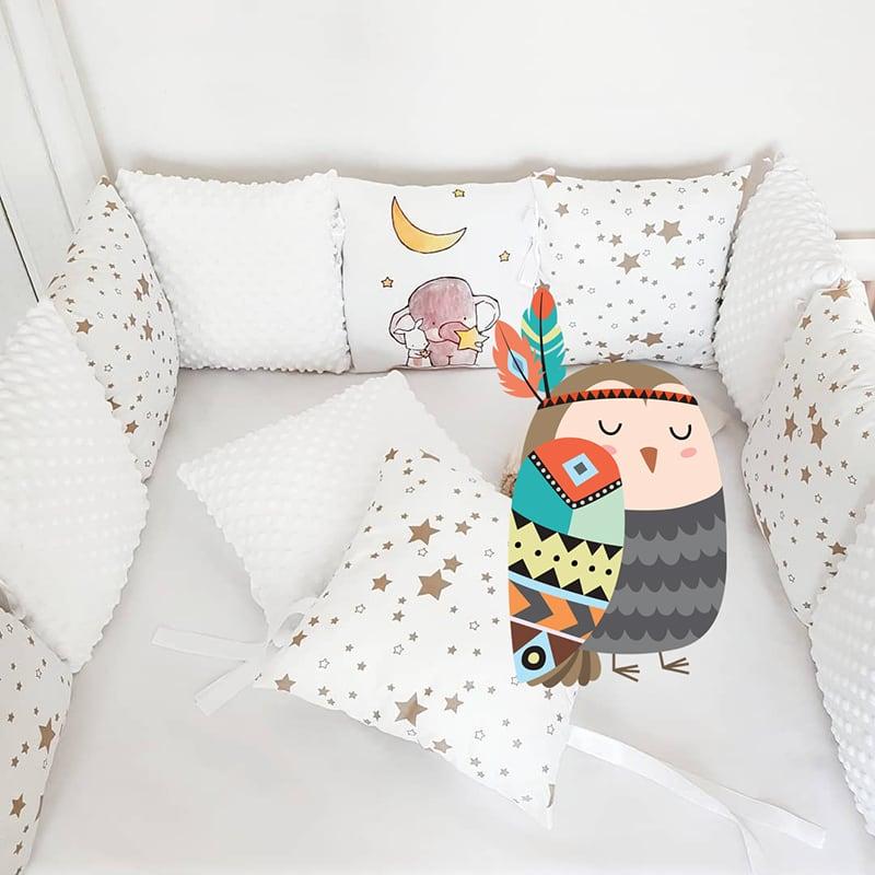 Бортики в кроватку Звездный Слоник