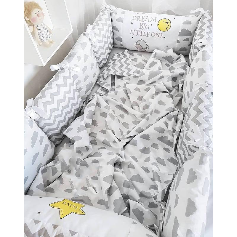 Бортики-подушки для кроватки Мишутка Тедди