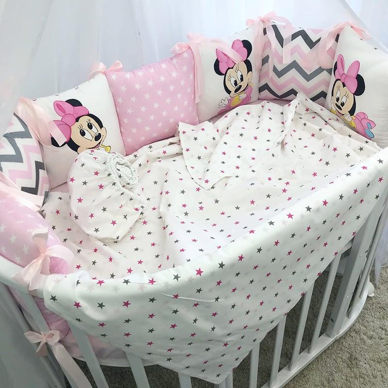 Бортики в кроватку ручной работы Minnie Mouse