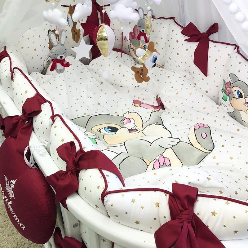 Бортики в кроватку для новорожденного Bunny