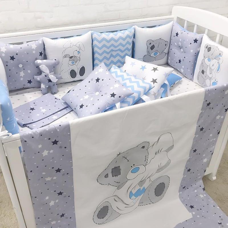 Бамперы подушки в кроватку Я Люблю Маму