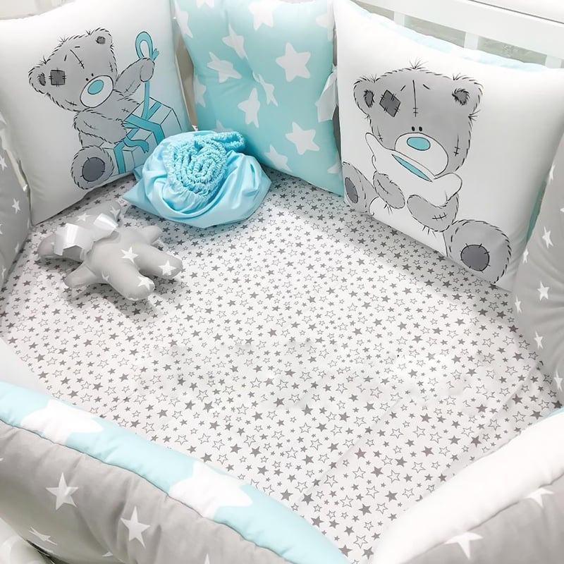 Бортики в кроватку для мальчика Мой Подарок