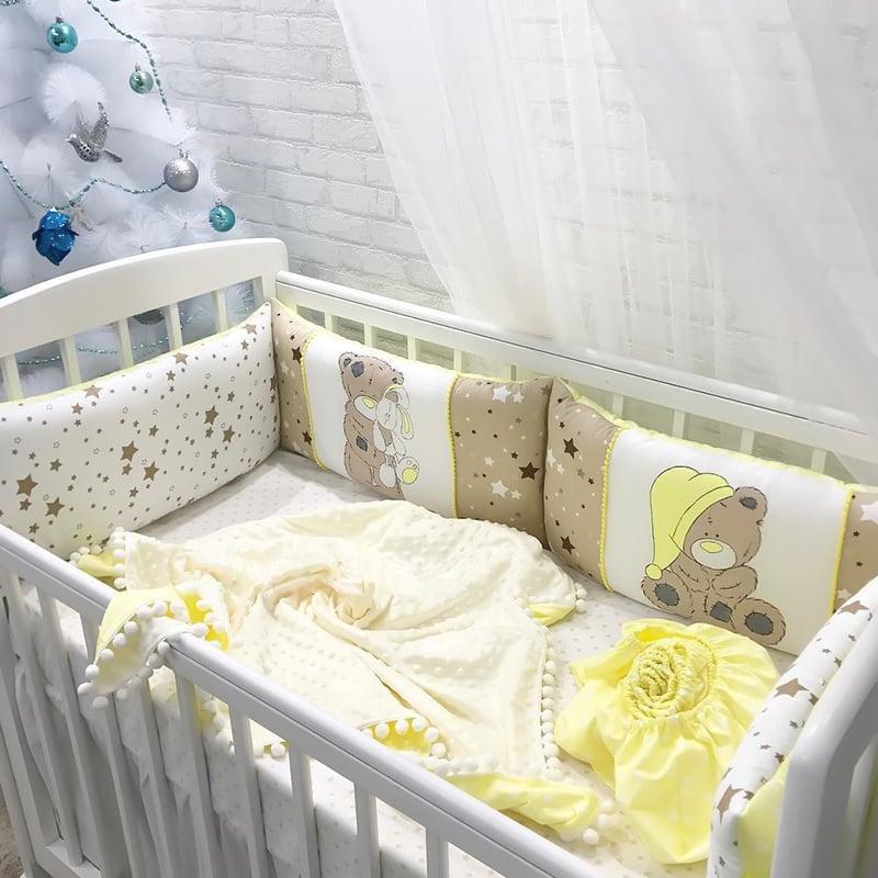 Бортики в кроватку для новорожденных Зайка Моя