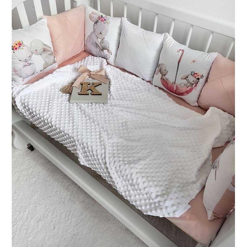 Бортики в кроватку для девочки Зайка Моя
