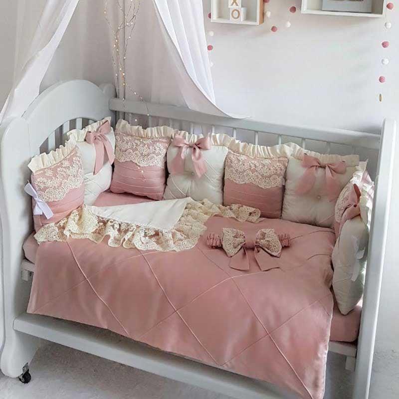 Бортики в ліжечко дівчинці Бісерна Казка