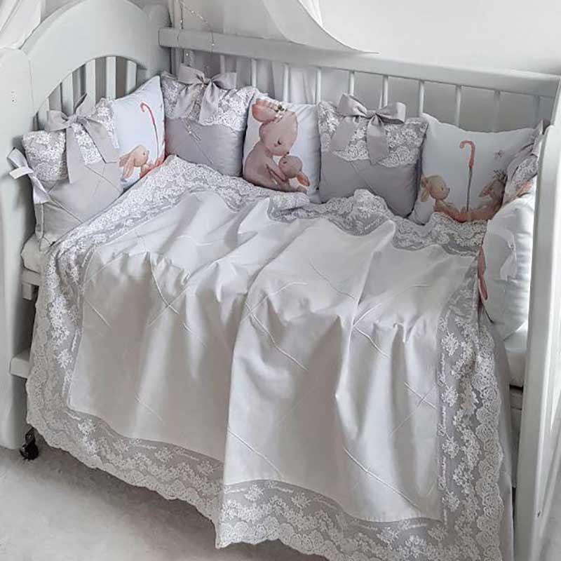 Бортики в кроватку новорожденному Жемчужная Сказка
