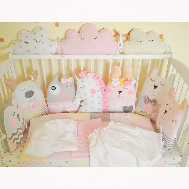 Бамперы-подушки в круглую кроватку Волшебный Сон