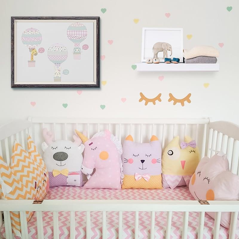Защитные бортики в овальную кроватку новорожденному Сиреневые Сны