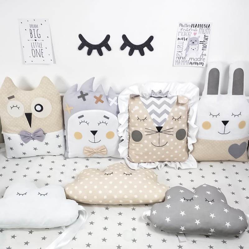 Бамперы подушки на кроватку новорожденным Детская Сказка