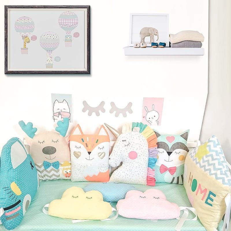 Захисні бортики в ліжечко новонародженим Сонячний Лев