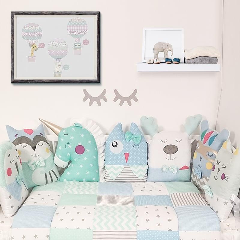 Захисні бортики в ліжечко новонародженим Лілова Казка