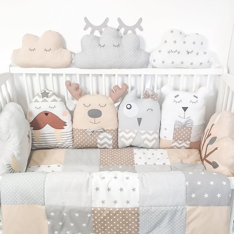 Бамперы подушки на кроватку новорожденным Сказочная Ночь