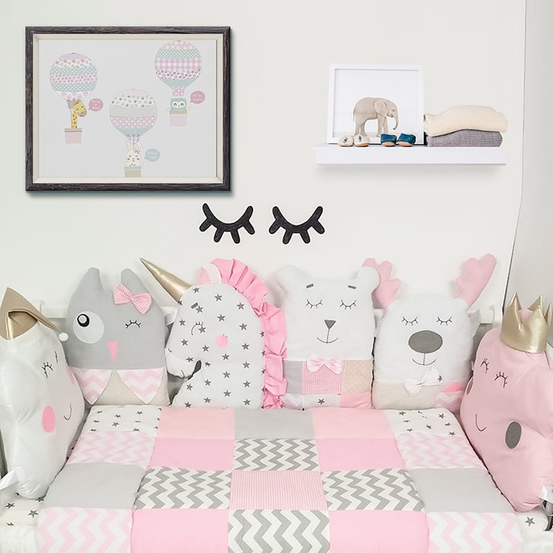 Набор защитных бортиков в кроватку девочке Маленькая Принцесса