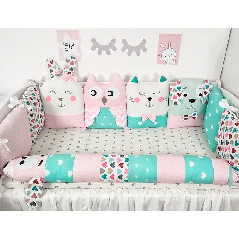 Защитные бортики в кроватку для новорожденных Нежность