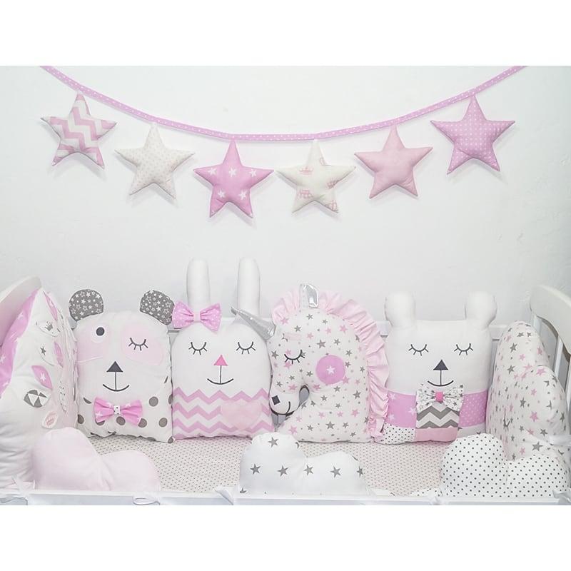 Бортики защитные в кроватку новорожденной девочке Домик в Лесу