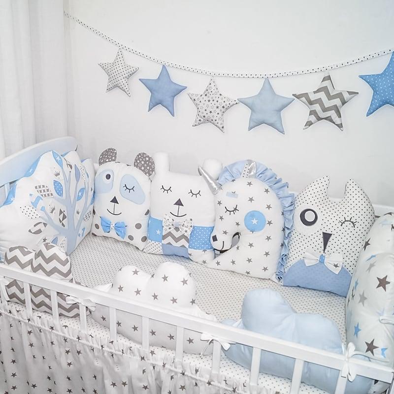 Бортики в кроватку мальчику Малыш и его Друзья