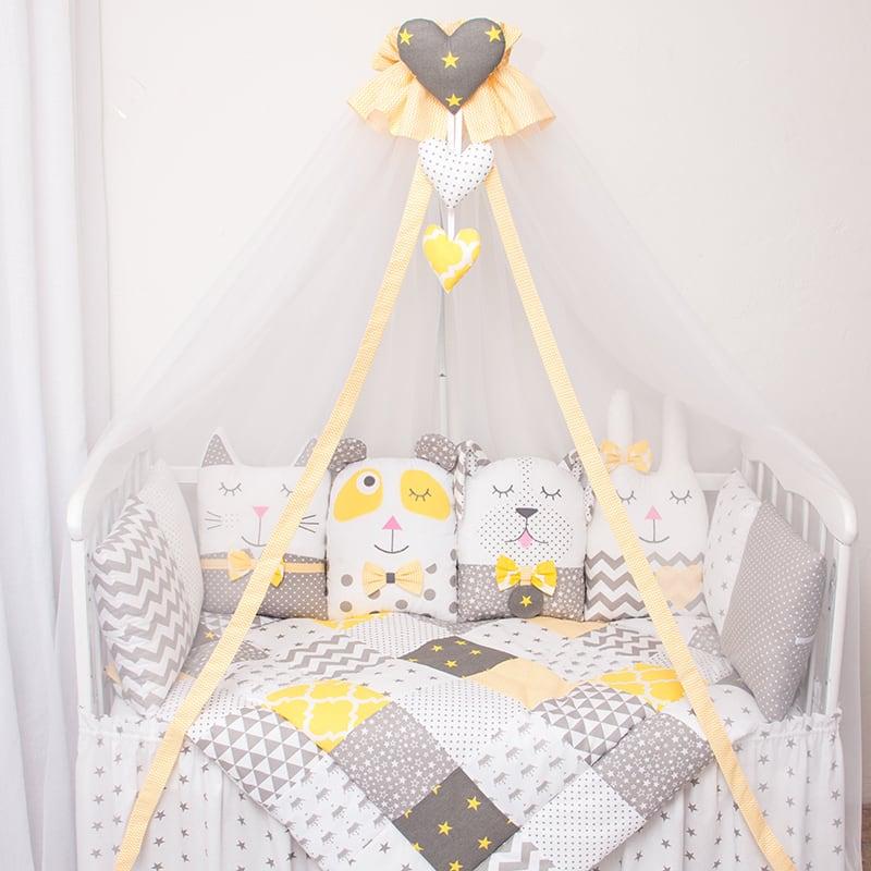 Защитные бортики в кровать мальчику Сонный Лес