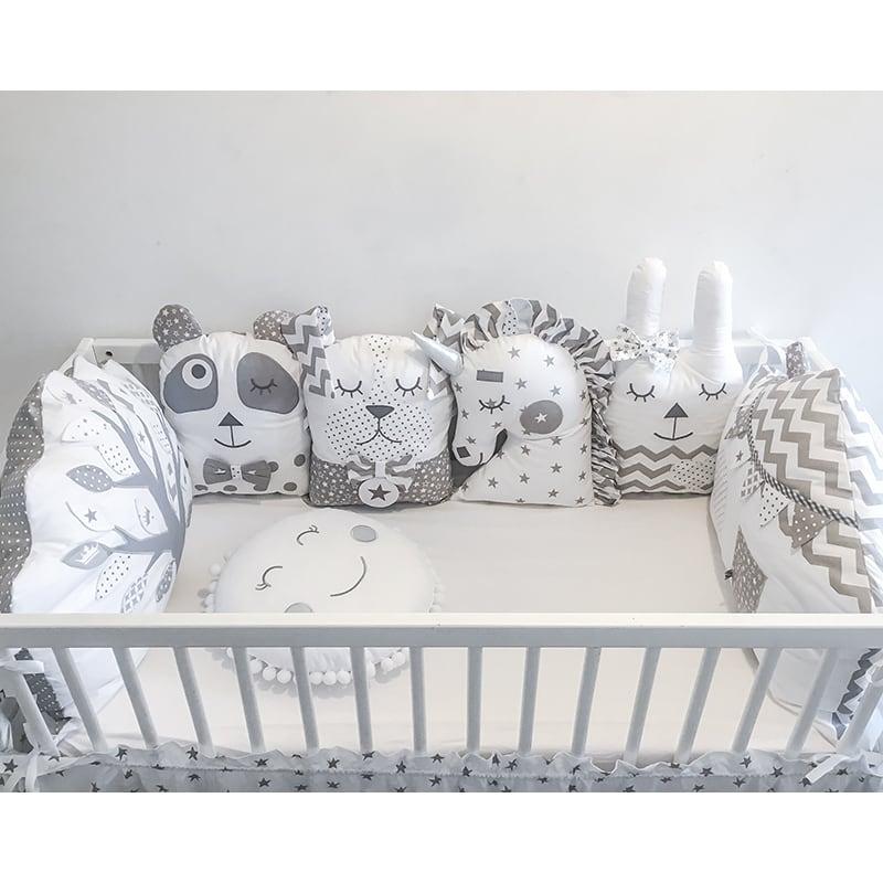 Защитные бортики в овальную кроватку для девочки Лесная Сказка