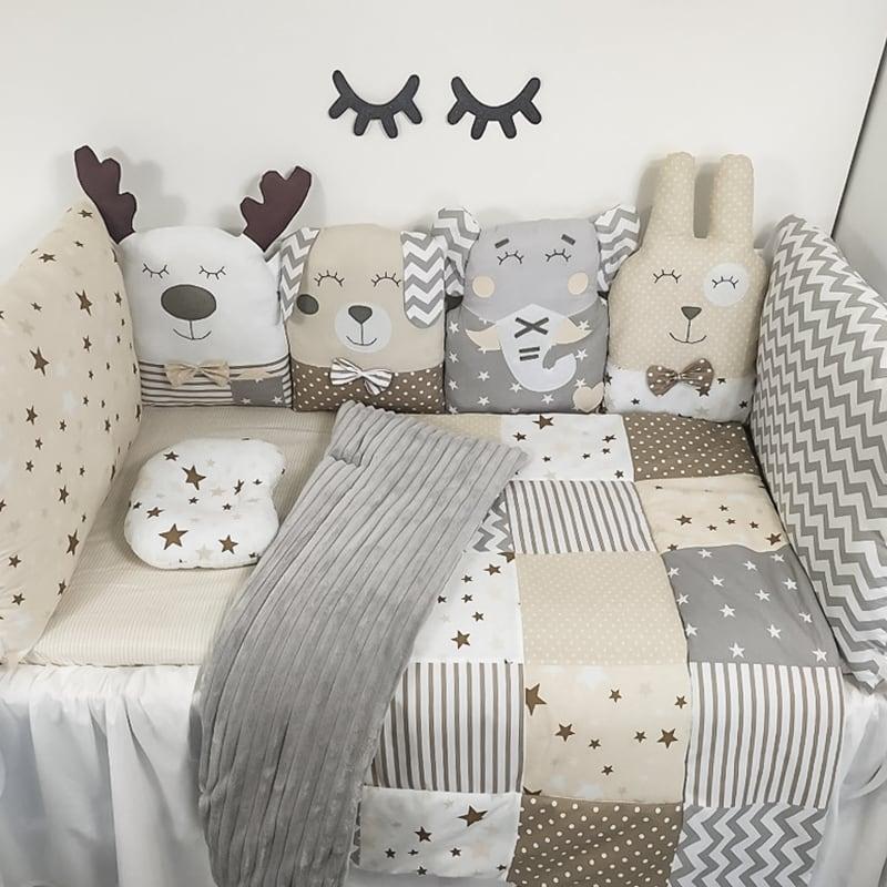 Бортики защитные для овальной кроватки новорожденного Жемчужная Сказка