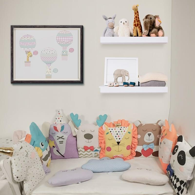 Бортики в кроватку новорожденному Веселый Единорог