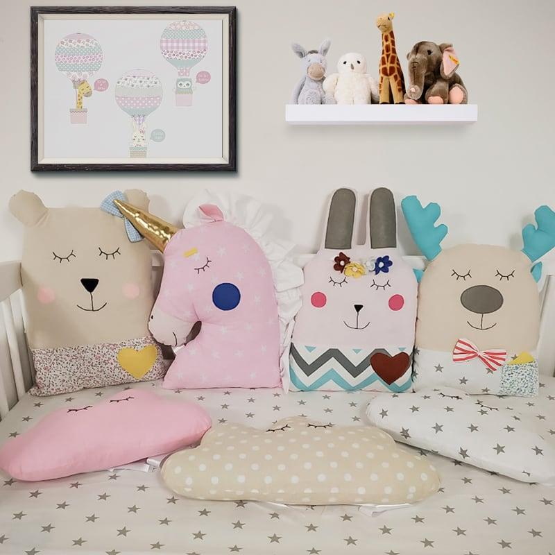 Бортики подушки в круглу ліжечко Літній Сон