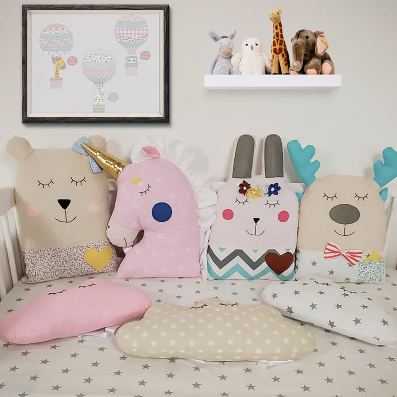 Бортики подушки в круглую кроватку Летний Сон