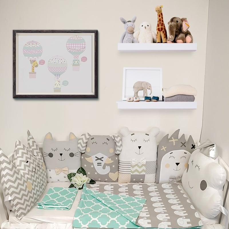 Бамперы-подушки в кроватку новорожденному Зимняя Сказка