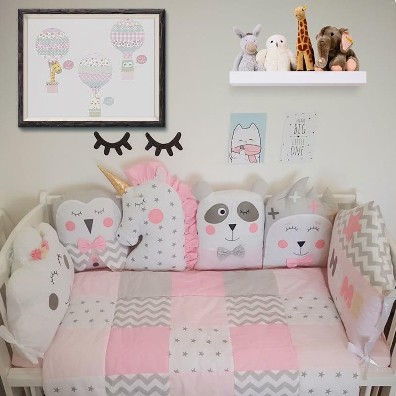 Бортики защитные в кроватку девочке Весенняя Сказка