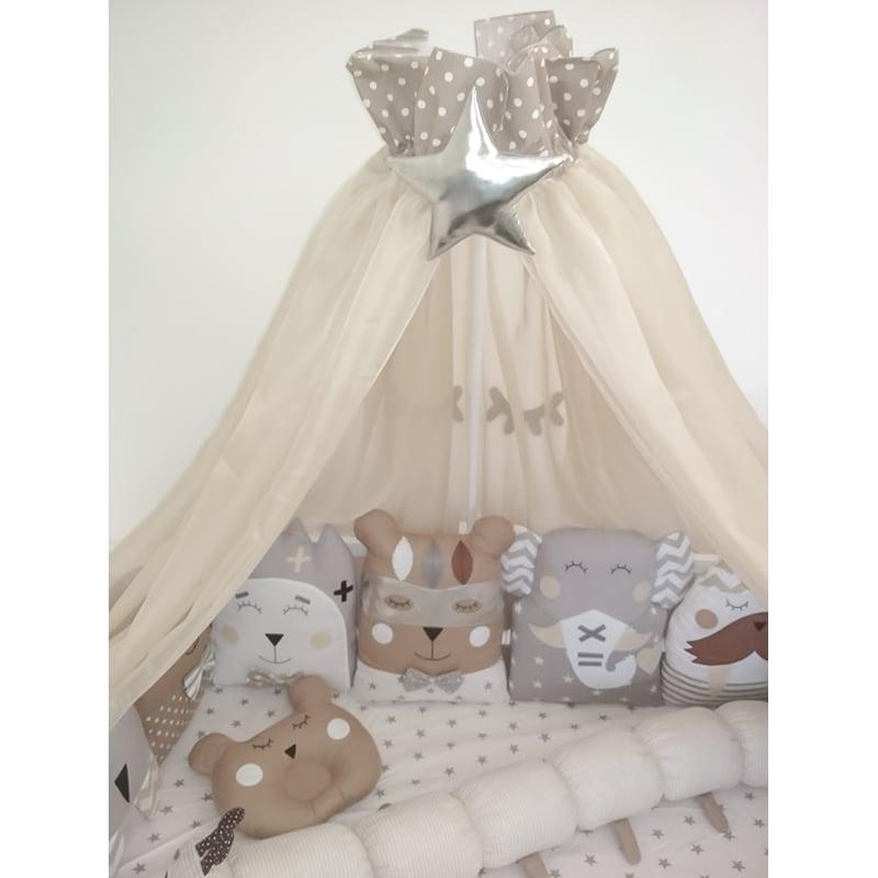 Защитные бамперы в кроватку новорожденному Лунная Принцесса