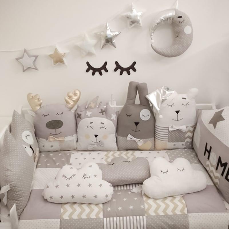Бортики защитные для кроватки новорожденного Серебристый Лес