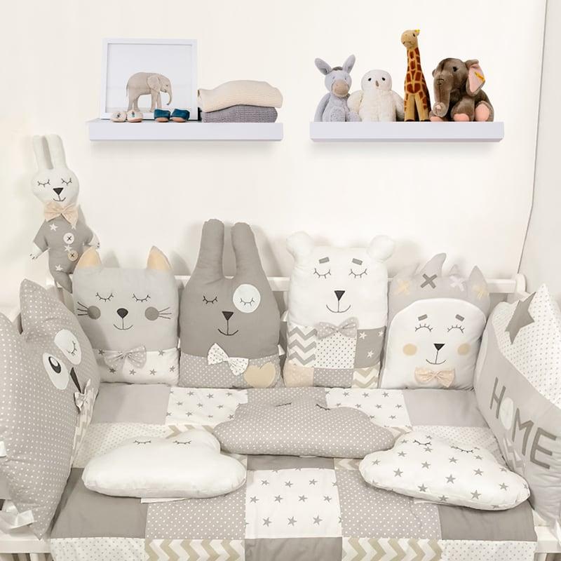 Защитные бортики в кроватку новорожденным Лесовичок-Боровичок
