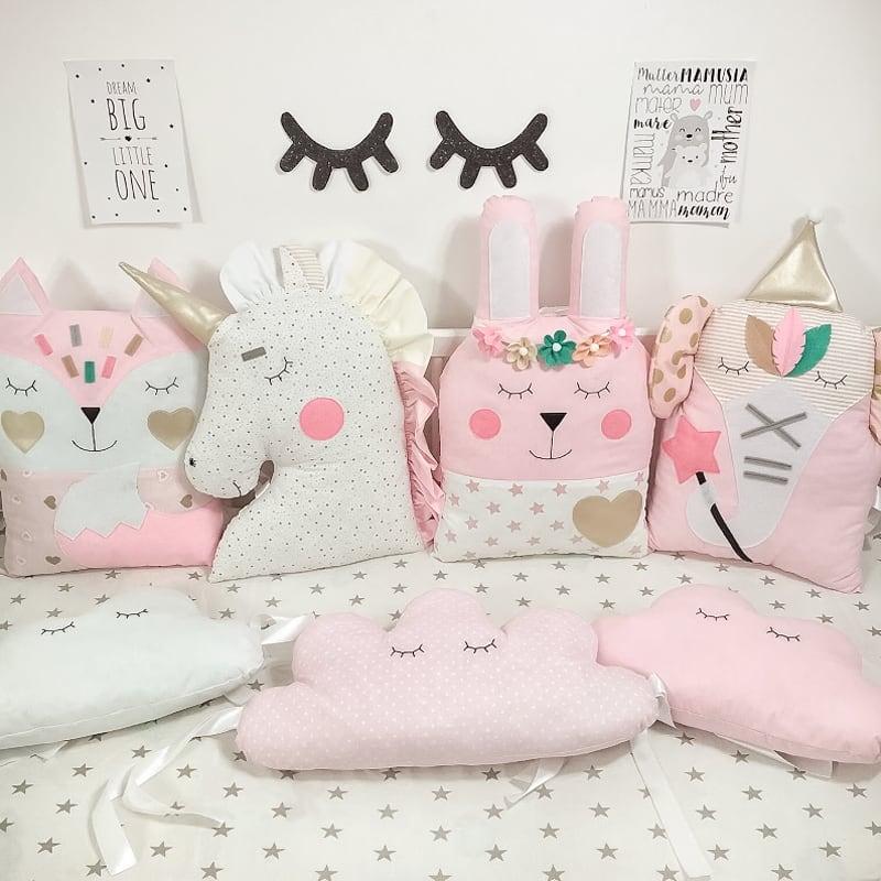 Бортики в ліжечко новонародженій дівчинці Рожеві Сни