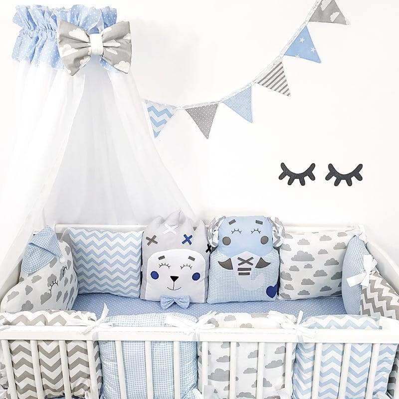 Защитные бортики в кроватку новорожденному Белые Ночи