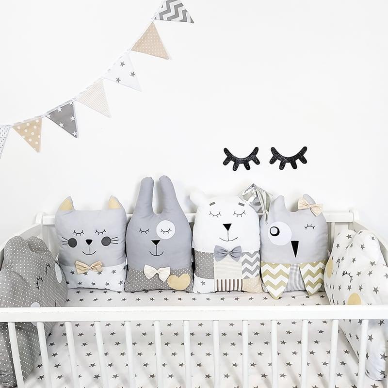 Бортики в кроватку новорожденным Серебристые Сны
