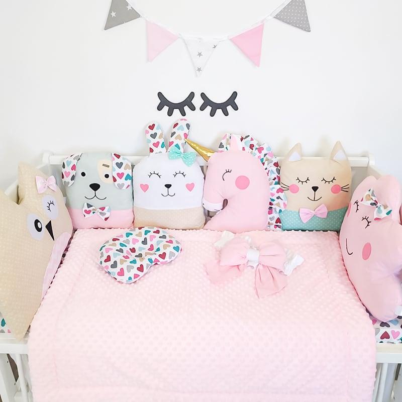 Защитные бортики в кроватку девочке Маленькая Фея