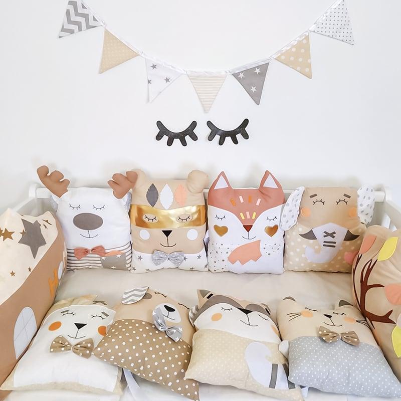 Защитные бортики для кроватки новорожденным Сказочный Енот