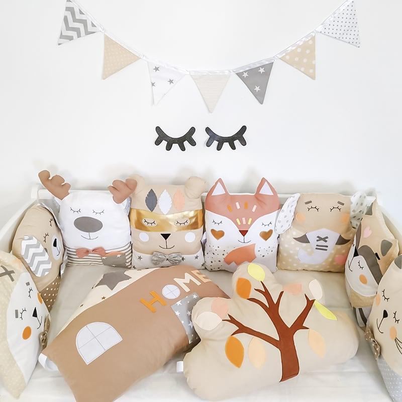 Захисні бортики для ліжечка новонародженим Казковий Єнот