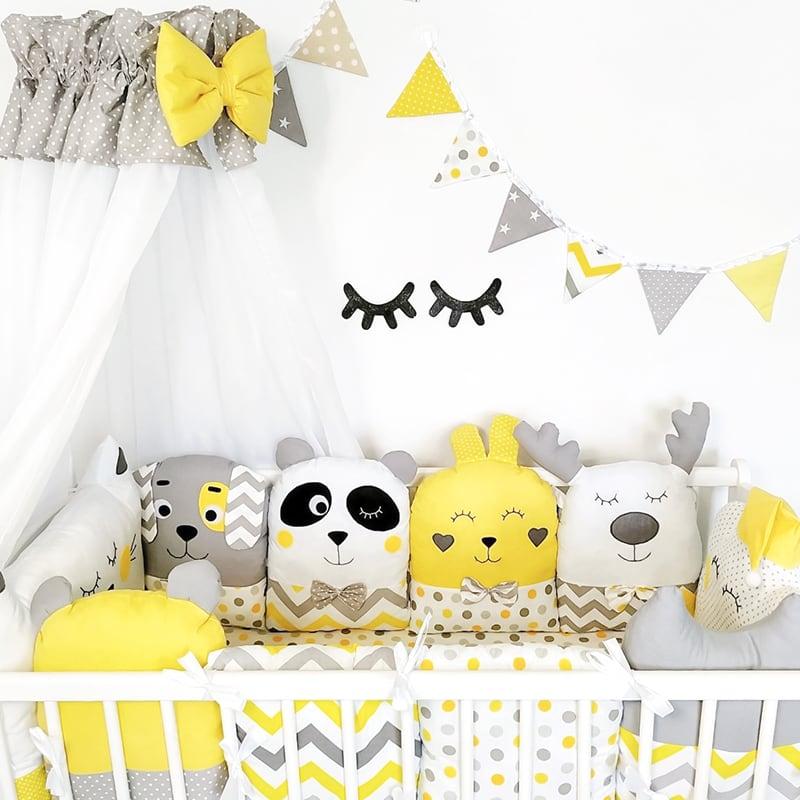 Бортики в кроватку Солнечный Зайка