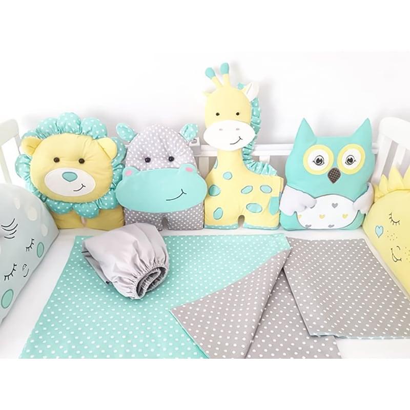 Бортики в кроватку для мальчика Симба