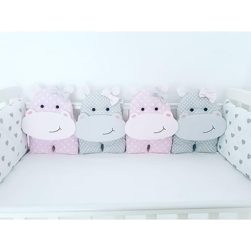 Бортики в ліжечко для дівчинки Сестрички